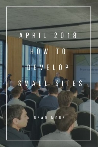 How to develop small sites