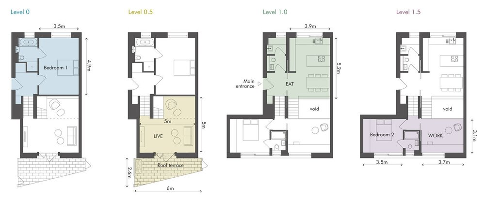 Weston Street floorplans