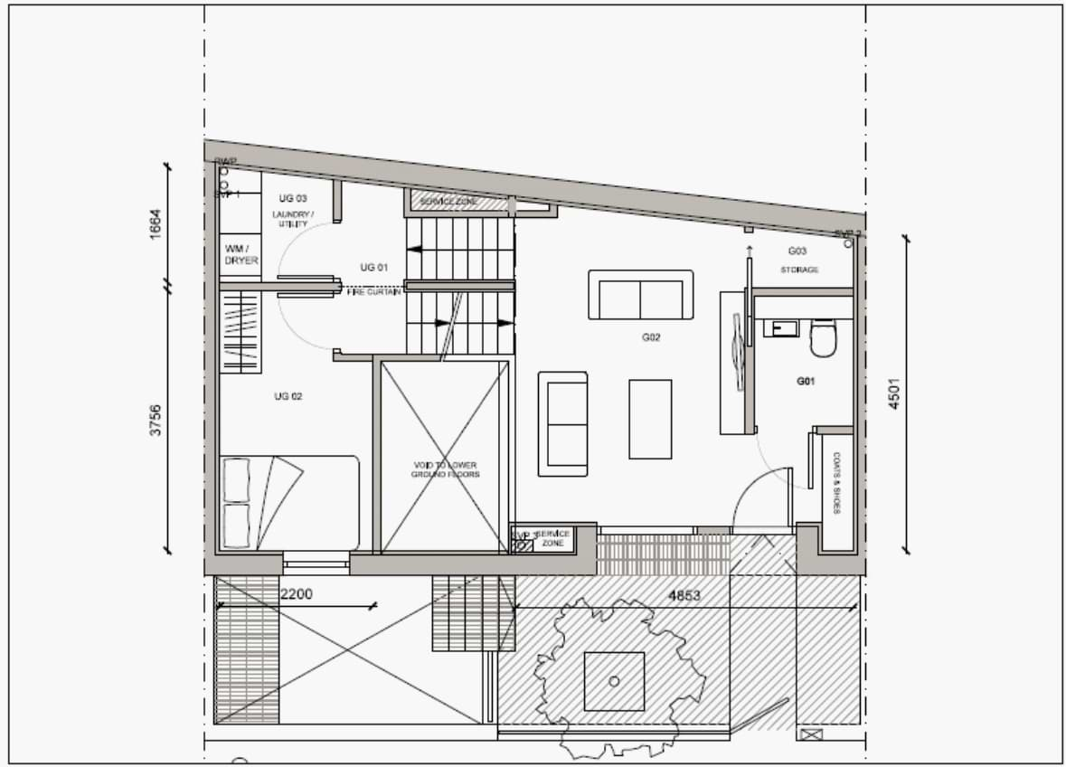 Blenheim Grove House 58 layout example 1 ground floor