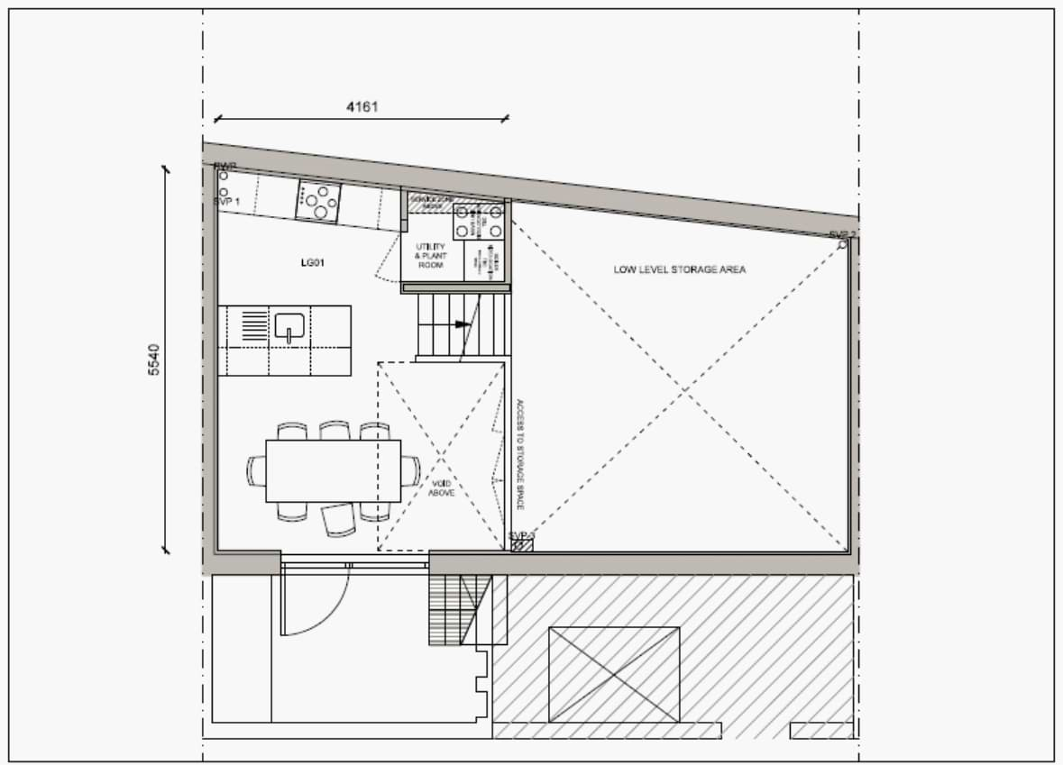 Blenheim Grove House 58 layout example 1 lower ground floor