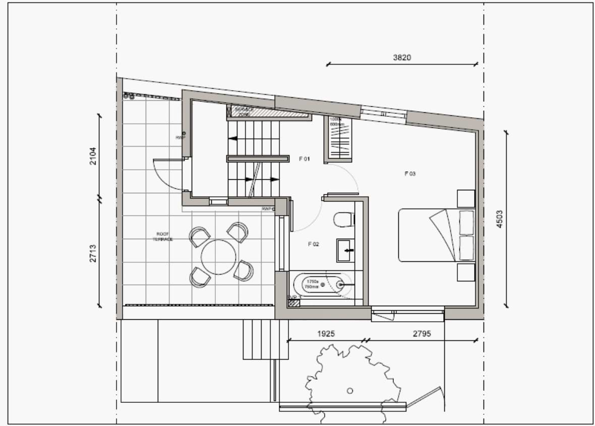 Blenheim Grove House 58 layout example 1 first floor