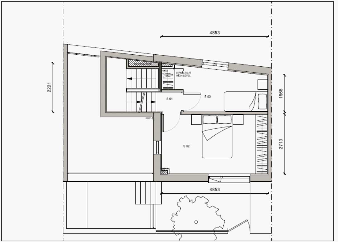 Blenheim Grove House 58 layout example 2 second floor
