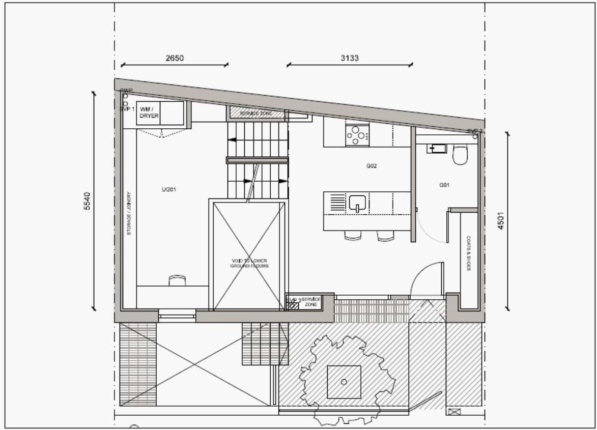 Blenheim Grove House 58 layout example 2 ground floor