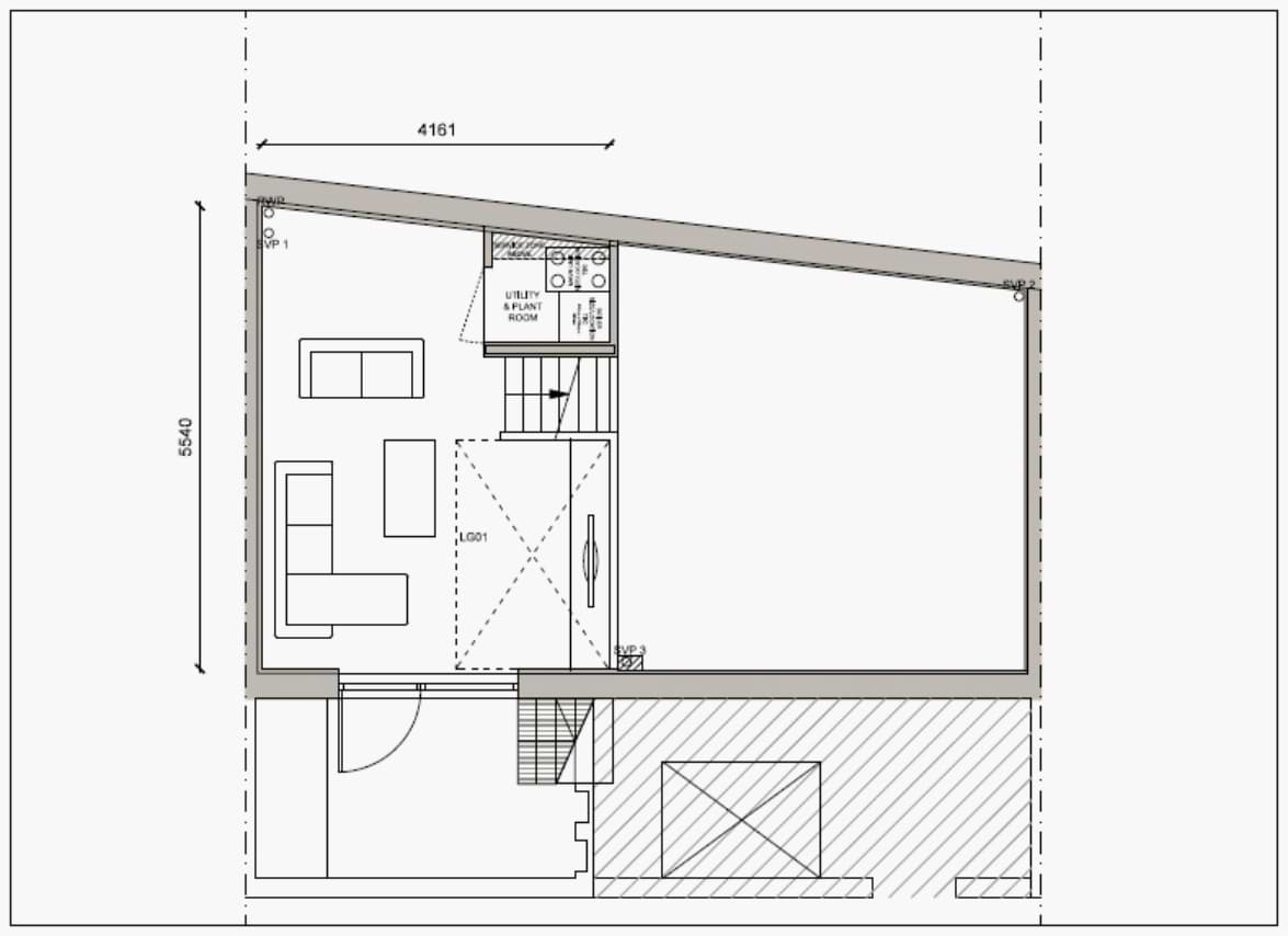 Blenheim Grove House 58 layout example 2 lower ground floor