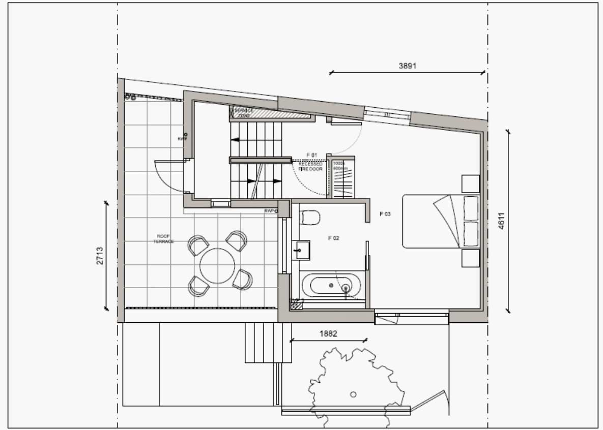 Blenheim Grove House 58 layout example 2 first floor