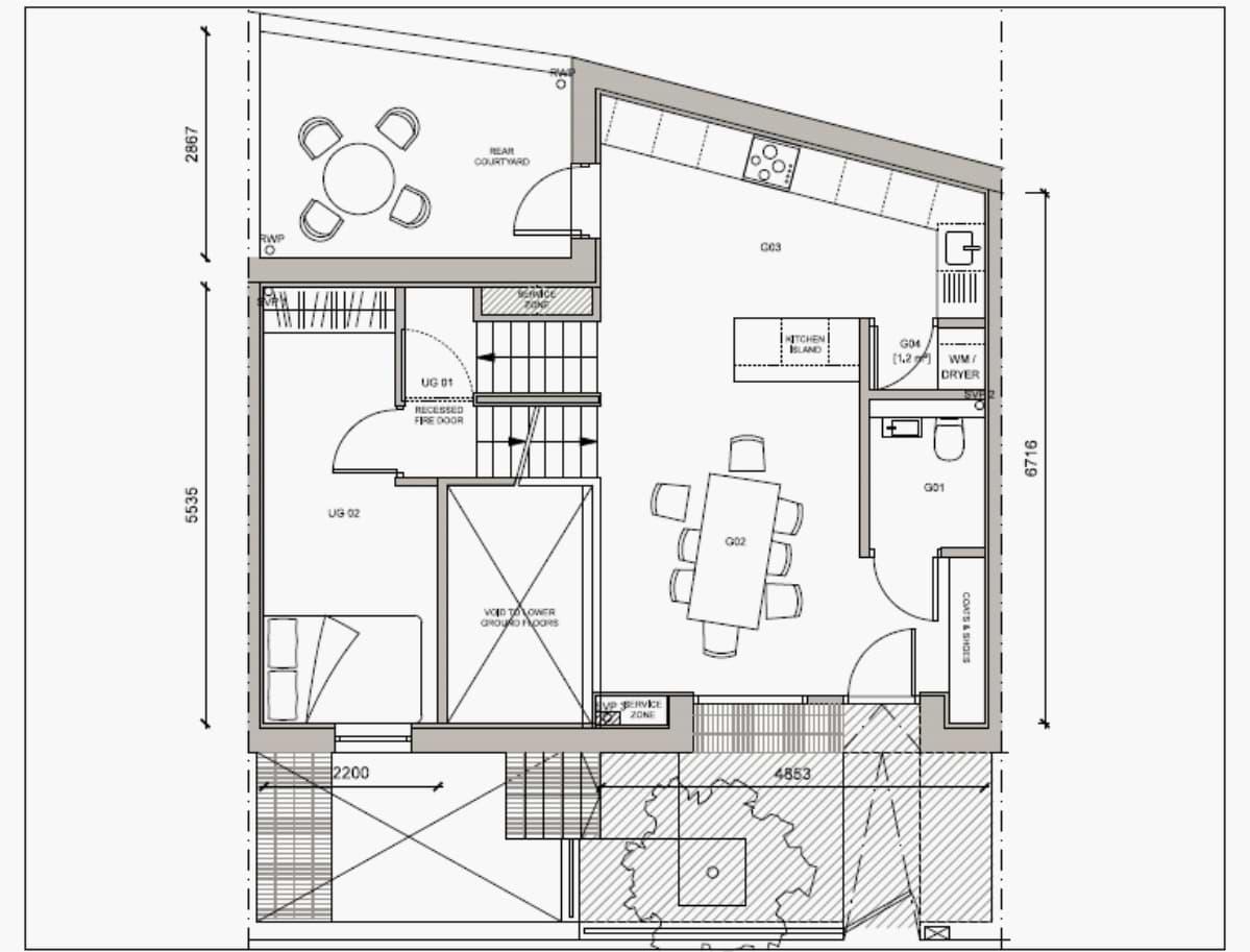 Blenheim Grove House 62 layout example 1 ground floor