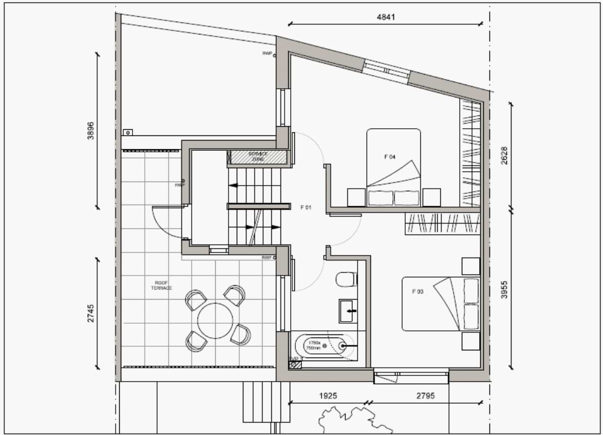 Blenheim Grove House 62 layout example 1 first floor
