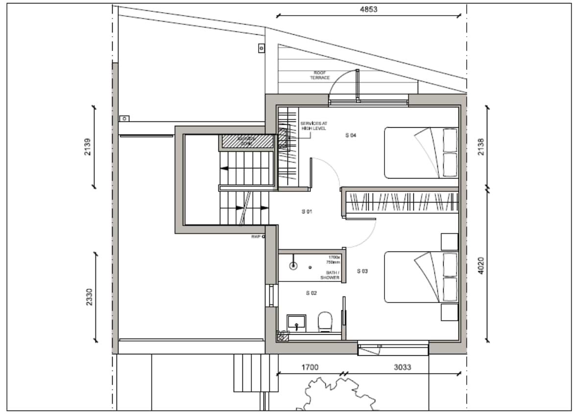 Blenheim Grove House 62 layout example 1 second floor