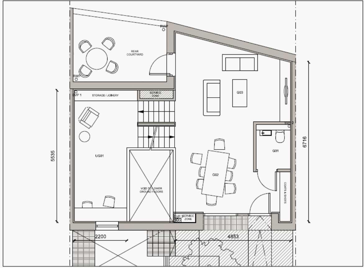Blenheim Grove House 62 layout example 2 ground floor
