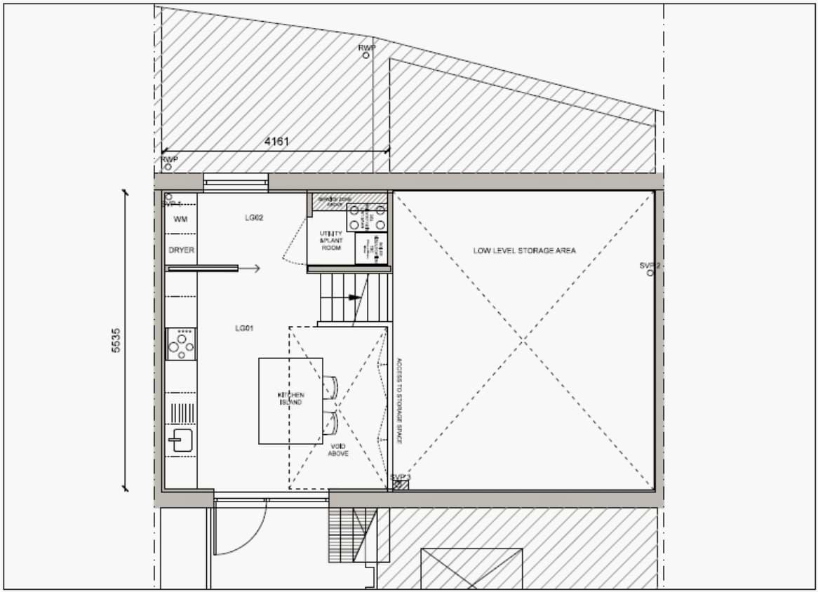 Blenheim Grove House 62 layout example 2 lower ground floor