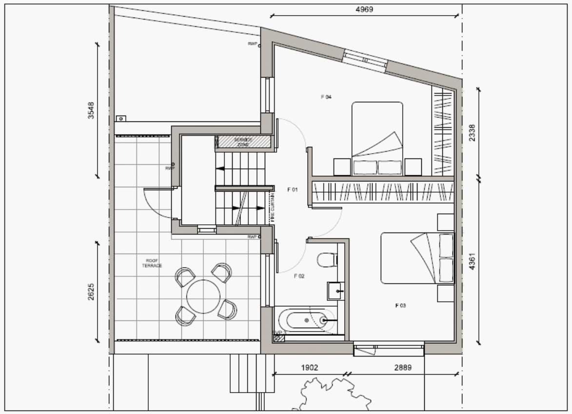 Blenheim Grove House 62 layout example 2 first floor