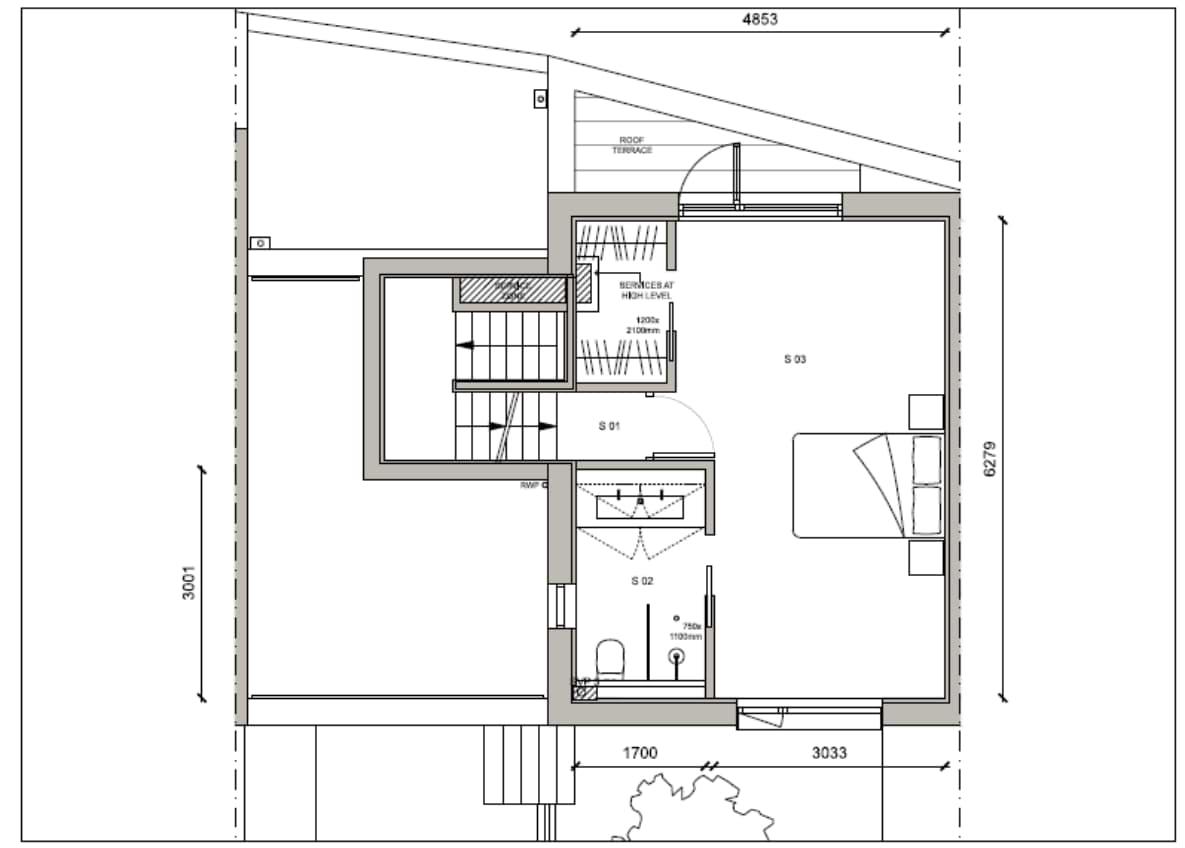 Blenheim Grove House 62 layout example 2 second floor