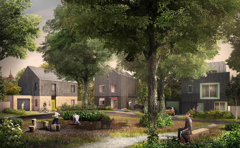 Pound Lane CGI garden view