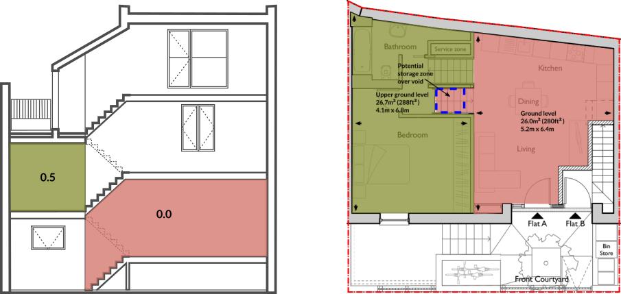 Apt 60A ground & upper ground floor