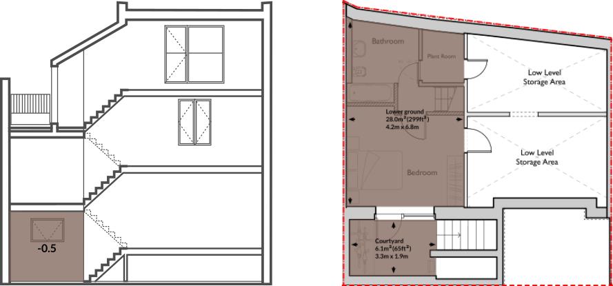 Apt 60A lower ground floor