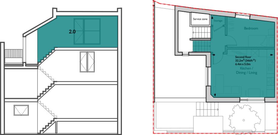 Apt 60B second floor
