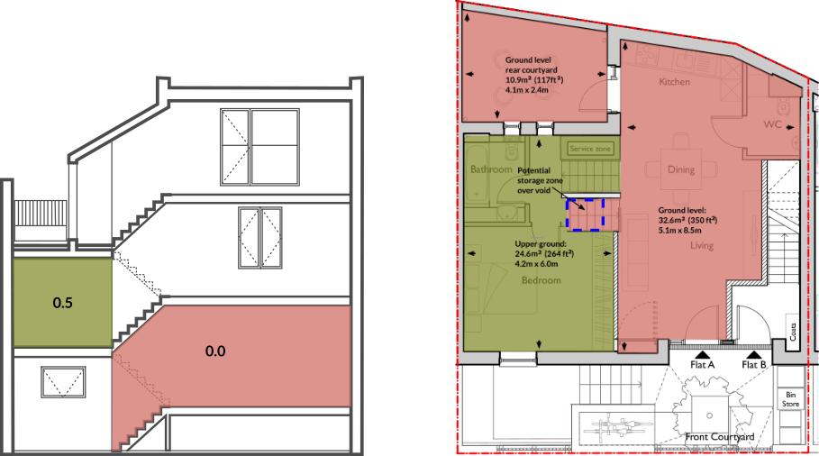 Apt 62A ground & upper ground floor