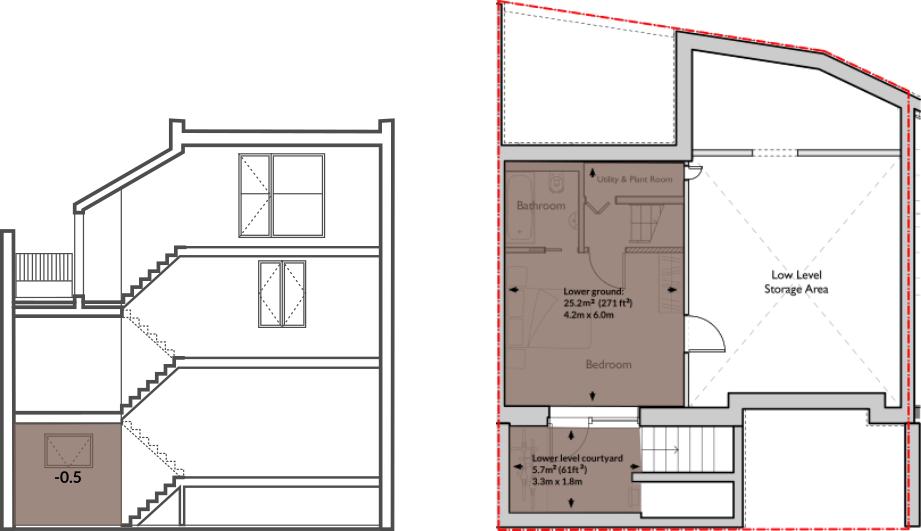 Apt 62A lower ground floor