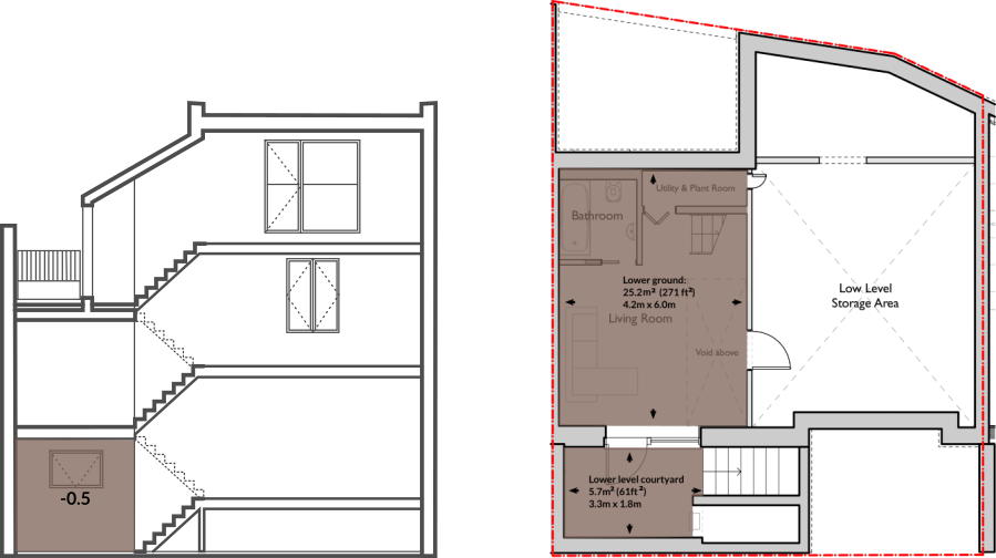 House 62 lower ground floor