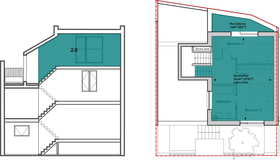 House 62 second floor