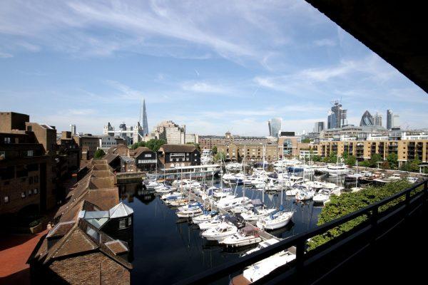 St Katharine Docks balcony